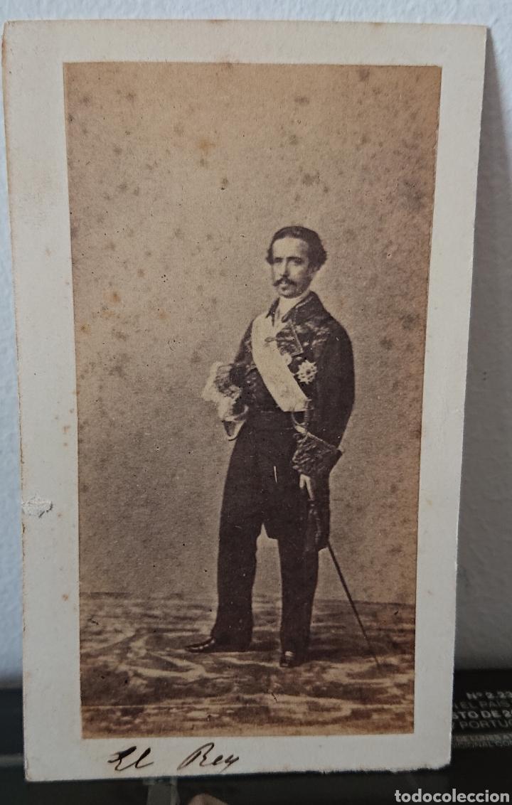 FOTOGRAFÍA SIGLO XIX, FOTO DEL REY, MARIDO DE ISABEL II FRANCISCO DE ASÍS, CDV (Fotografía Antigua - Cartes de Visite)