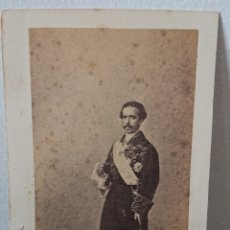 Fotografía antigua: FOTOGRAFÍA SIGLO XIX, FOTO DEL REY, MARIDO DE ISABEL II FRANCISCO DE ASÍS, CDV. Lote 174989225