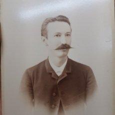 Fotografía antigua: FOTOGRAFÍA BURGUES 1886 DE ASTRAY CANTEADA EN ORO SELLADA . Lote 175346192