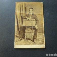 Fotografía antigua: GRANADA JOSE CAMINO FOTOGRAFO CARTE DE VISITE RETRATO DE CABALLERO HACIA 1870. Lote 175359204