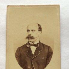 Fotografia antiga: FOTOGRAFÍA ALBUMINA CDV. FOTO J. LAURENT. MADRID. EMILIO CASTELAR.. Lote 175648888