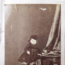 Fotografía antigua: F-4162.CARTE DE VISITE DE NIÑA TARRACONENSE. FOTOGRAFO P.PALLEJÁ. TARRAGONA. CIRCA 1870. Lote 175718767