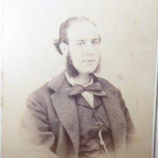 Fotografía antigua: F-4163. CARTE DE VISITE DE CABALLERO TARRACONENSE. FOTOGRAFO G.TORRES. TARRAGONA. CIRCA 1870. Lote 175719120