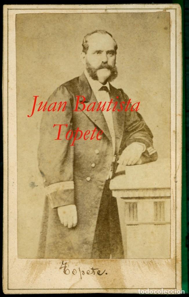 JUAN BAUTISTA TOPETE Y CARBALLO - VICEALMIRANTE - 1870 (Fotografía Antigua - Cartes de Visite)