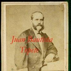 Fotografía antigua: JUAN BAUTISTA TOPETE Y CARBALLO - VICEALMIRANTE - 1870. Lote 175765024