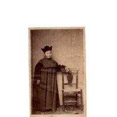 Fotografía antigua: CARTES DE VISITE. ESTUDIO FOTOGRÁFICO. DESCONOCIDO. SALAMANCA.1864. MONAGUILLO. Lote 175809028