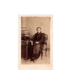 Fotografía antigua: CARTES DE VISITE. ESTUDIO FOTOGRÁFICO. E.JULIA. MADRID. SACERDOTE. CURA. RELIGIOSA.. Lote 175809138