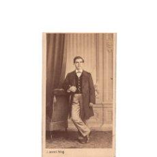 Fotografía antigua: CARTES DE VISITE. ESTUDIO FOTOGRÁFICO. J. LAURENT. MADRID.. Lote 175809280