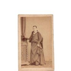 Fotografía antigua: CARTES DE VISITE. ESTUDIO FOTOGRÁFICO. J. LAURENT. MADRID. SACERDOTE. CURA.. Lote 175809539