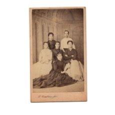 Fotografía antigua: CARTES DE VISITE. ESTUDIO FOTOGRÁFICO. PLACIDO CEMBRANO Y ALVAREZ - ANTEQUERA.(MÁLAGA).. Lote 175810169