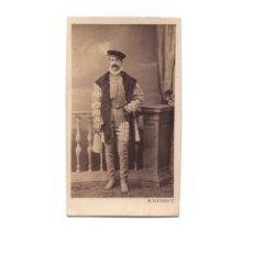 Fotografía antigua: CARTES DE VISITE. ESTUDIO FOTOGRÁFICO. M. DE HERBET. MADRID. TEATRO. CARNAVAL.. Lote 175810303
