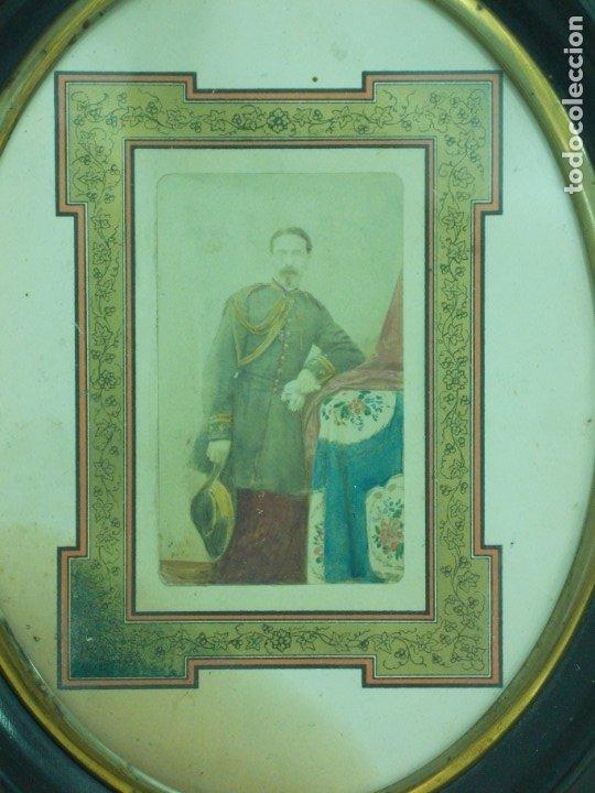 Fotografía antigua: ANTIGUA FOTOGRAFIA DE UN MILITAR DE LA GUERRA DE CUBA ENMARCADA - Foto 2 - 176210334