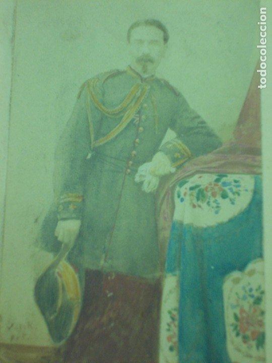 Fotografía antigua: ANTIGUA FOTOGRAFIA DE UN MILITAR DE LA GUERRA DE CUBA ENMARCADA - Foto 3 - 176210334
