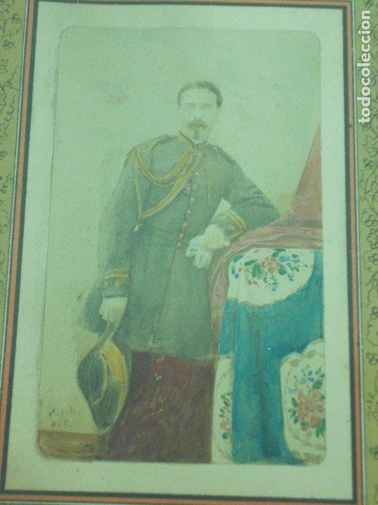 Fotografía antigua: ANTIGUA FOTOGRAFIA DE UN MILITAR DE LA GUERRA DE CUBA ENMARCADA - Foto 4 - 176210334