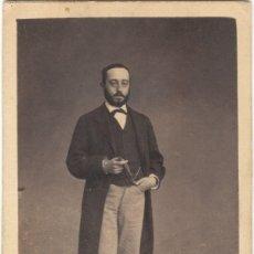 Photographie ancienne: FOTOGRAFÍA - CARTE DE VISITE - RETRATO DE CABALLERO - A. ALONSO MARTÍNEZ Y HERMANO - MADRID S. XIX. Lote 176948679