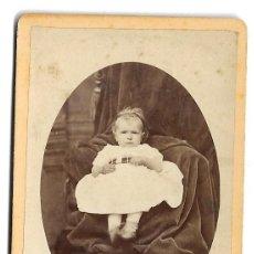 Fotografia antica: R201-FOTOGRAFIA TARJETA CARTA DE VISITA- UNA NIÑA - FOTO- JACOB - DIZIER- DE 1900-10. Lote 177312364