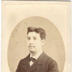 Fotografia antica: FOTOGRAFÍA DE CABALLERO - CARTE DE VISITE - FOTÓGRAFO AGAPITO CASADO - SIGLO XIX. Lote 177314750