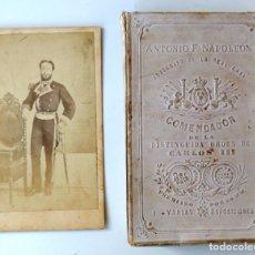 Fotografía antigua: ARMADA ESPAÑOLA. CARTE DE VISITA (CDV) DE UN OFICIAL, MÁS CAJA PARA GUARDAR CDV´S. SIGLO XIX. Lote 177399995