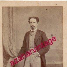 Fotografía antigua: SIGLO XIX, MANUEL JOSE GARCIA Y GARCIA, INGENIERO JEFE DE MINAS DE SALAMANCA, 60X105MM. Lote 177569697