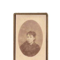 Fotografía antigua: CARTES DE VISITE. ESTUDIO FOTOGRÁFICO. R. CASTELLANOS. VALLADOLID.. Lote 177570068