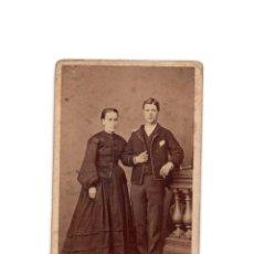 Fotografía antigua: CARTES DE VISITE. ESTUDIO FOTOGRÁFICO. J. MON. MADRID. Lote 177570617