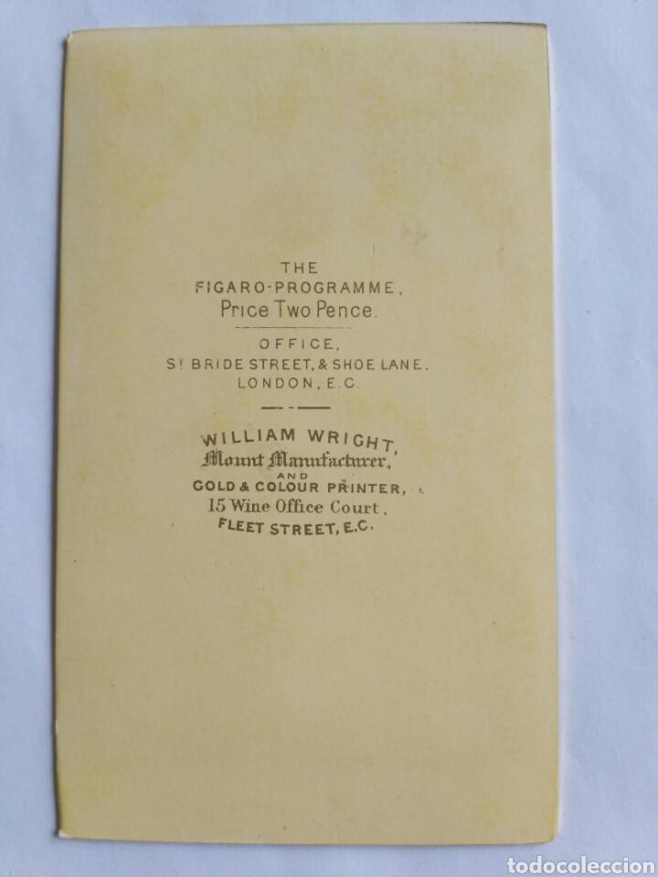 Fotografía antigua: Carta de visita, 15° Conde de Derby. The Fígaro. Reino Unido, s. XIX. - Foto 2 - 177704562