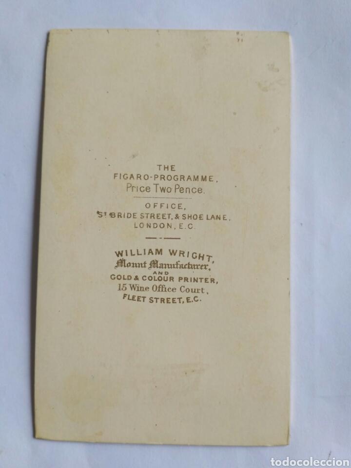 Fotografía antigua: Fotografía, carta de visita. Miss Rose Hersee, soprano operística. The Fígaro. Reino Unido, s. XIX. - Foto 2 - 177709127