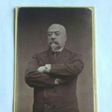 Fotografía antigua: FOTOGRAFÍA CARTA DE VISITA. MARSHALL BAZAINE, IMPORTANTE POLÍTICO FRANCÉS. THE FÍGARO. REINO UNIDO.. Lote 177710613