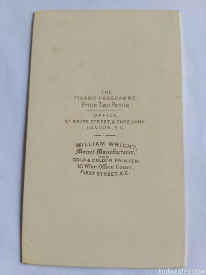 Fotografía antigua: Fotografía, carta de visita. J. Sleeper, actor estadounidense. The Fígaro. Reino Unido, s. XIX. - Foto 2 - 177714007