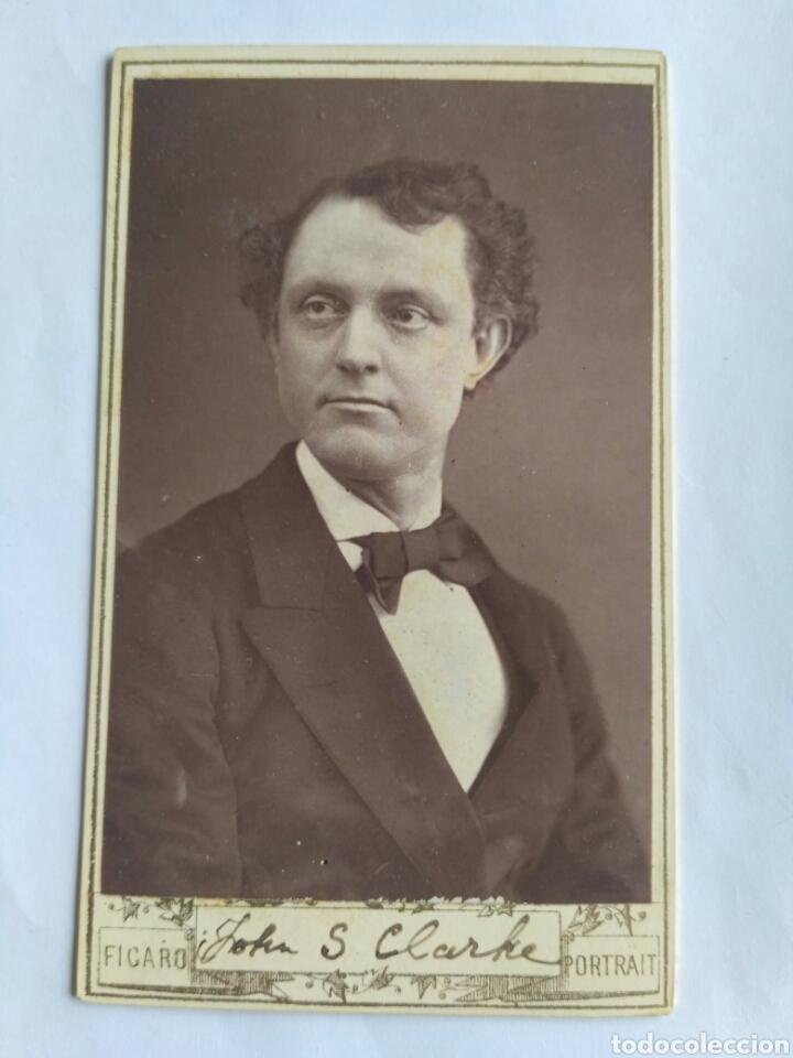 FOTOGRAFÍA, CARTA DE VISITA. J. SLEEPER, ACTOR ESTADOUNIDENSE. THE FÍGARO. REINO UNIDO, S. XIX. (Fotografía Antigua - Cartes de Visite)