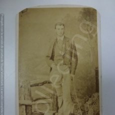 Fotografía antigua: CARTA DE VISITA ANTIGUA. SELLO T. JONES. (10,5 CM X 6,3 CM). Lote 177888248