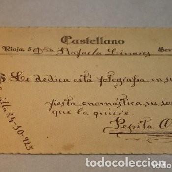 Fotografía antigua: Preciosa fotografía de 1923 Chica posando con Abanico. - Foto 6 - 178116932