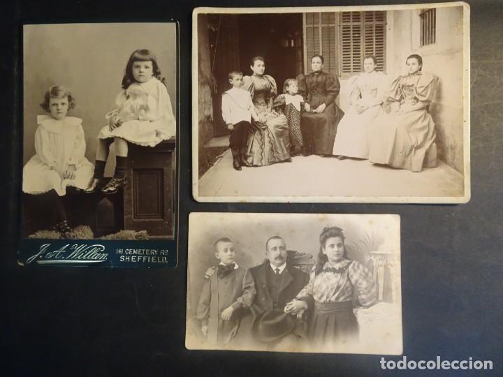 LOTE DE 3 FOTOS VARIADAS DE ÉPOCA , CDV, POSTAL, ESTUDIO , VER FOTOS (Fotografía Antigua - Cartes de Visite)