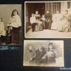 Fotografía antigua: LOTE DE 3 FOTOS VARIADAS DE ÉPOCA , CDV, POSTAL, ESTUDIO , VER FOTOS. Lote 178403200