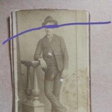 Fotografía antigua: FOTOGRAFÍA ANTIGUA.CARTA DE VISITA.POST MORTEM.JOVEN DIFUNTO.FOTÓGRAFO VALERO .CARTAGENA.MURCIA. Lote 178437506