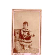 Fotografía antigua: CARTES DE VISITE. ESTUDIO FOTOGRÁFICO. COMPAÑY. MADRID.. Lote 178561696