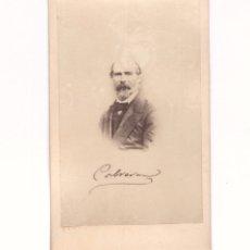 Fotografía antigua: CARLISMO - RAMÓN CABRERA, LIDER CARLISTA. SELLO REVERSO DE INOCENCIO LÓPEZ, BARCELONA. CDV. Lote 178668591