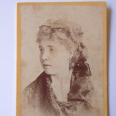 Fotografía antigua: F-4385. CARTE DE VISITE DAMA . LIVERPOOL CIRCA 1870. BROWN BARNES BELL PHOTOGRAPHERS.. Lote 178913913
