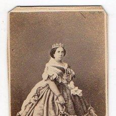 Fotografía antigua: LA REINA ISABEL II. FREDRICKS & CO. SIGLO XIX. Lote 240773350