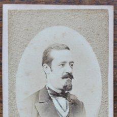 Fotografía antigua: RETRATO CABALLERO, FOTOGRAFIA CALLE DE LA CIUDAD 5. BARCELONA.. Lote 180101527