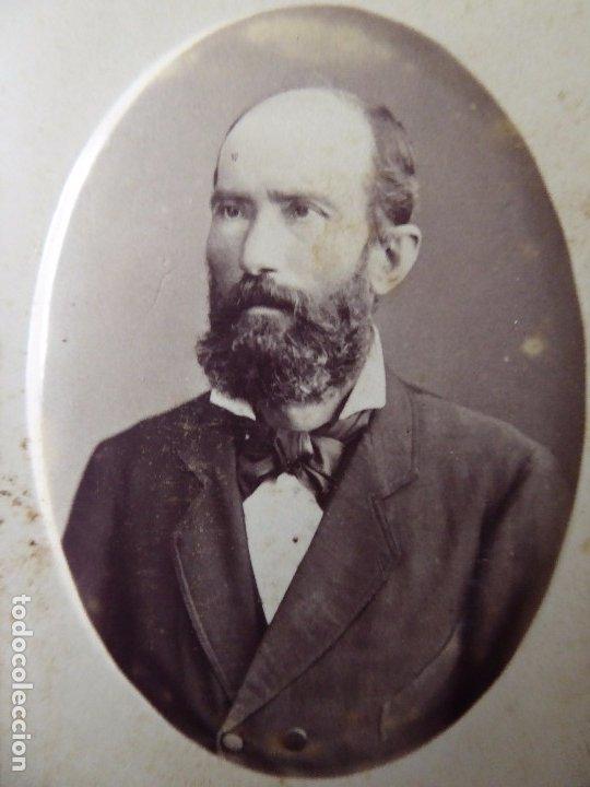 Fotografía antigua: F-4432. CARTE VISITE PERSONAJE BARCELONÉS. JUAN MARTÍ FOTOGRAFO. CIRCA 1870. - Foto 2 - 180903488