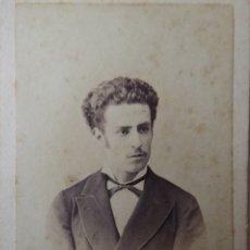 Fotografía antigua: F-4433. CARTE VISITE PERSONAJE BARCELONÉS. G. LARAUZA FOTOGRAFO. CIRCA 1870.. Lote 180903858