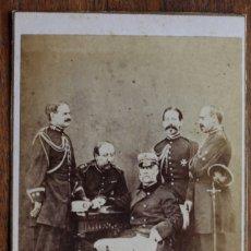 Fotografía antigua: CARTES DE VISITE.- MILITARES 1860-1870. FOTOG. FRANCO. HISPANO. AMERICANO. BARCELONA. Lote 182278111