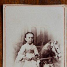 Fotografía antigua: ANTIGUA FOTO- NIÑA -SIGLO XIX. ALBUMINA. RETRATO. A.F. NAPOLEON. BARCELONA.. Lote 182280485