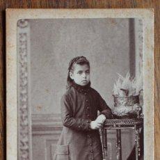 Fotografía antigua: ANTIGUA FOTO- NIÑA -SIGLO XIX. ALBUMINA. RETRATO. A.F. NAPOLEON. BARCELONA.. Lote 182280736