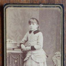 Fotografía antigua: FOTOGRAFIA ALBUMINA TIPO CDV, FOTO J. MARTI, BARCELONA.. Lote 182282715
