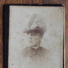 Fotografía antigua: CARTES DE VISITE. ESTUDIO FOTOGRÁFICO. A. ESPERON. MADRID MEDIDA PEQUEÑA. FOTO: 6 X 4,5 CM. Lote 182283321