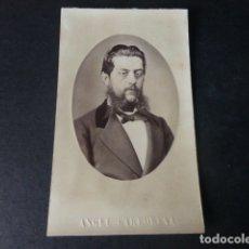 Fotografía antigua: CARTE DE VISITE BADAJOZ ANGEL GARRORENA FOTOGRAFO CALLE DE LOS PADRES 26 RETRATO DE HOMBRE H. 1870. Lote 182303256