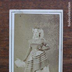 Fotografía antigua: CARTES DE VISITE.- DAMA. FOTOG. FRANCO. HISPANO. AMERICANO. BARCELONA. Lote 182382260