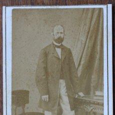 Fotografía antigua: CARTES DE VISITE.- CABALLERO- FOTOG. FRANCO. HISPANO. AMERICANO. BARCELONA. Lote 182384990